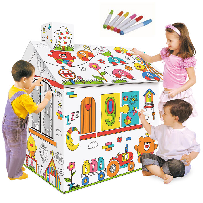картонный Дом Раскраска Diy House Doodle M901 оптом от ...