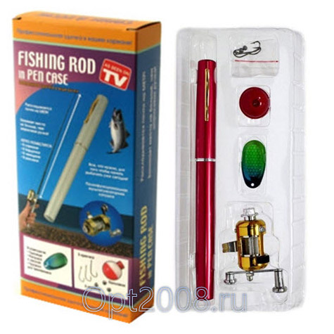 Мини Удочка Fishing Rod Pen Case Оптом