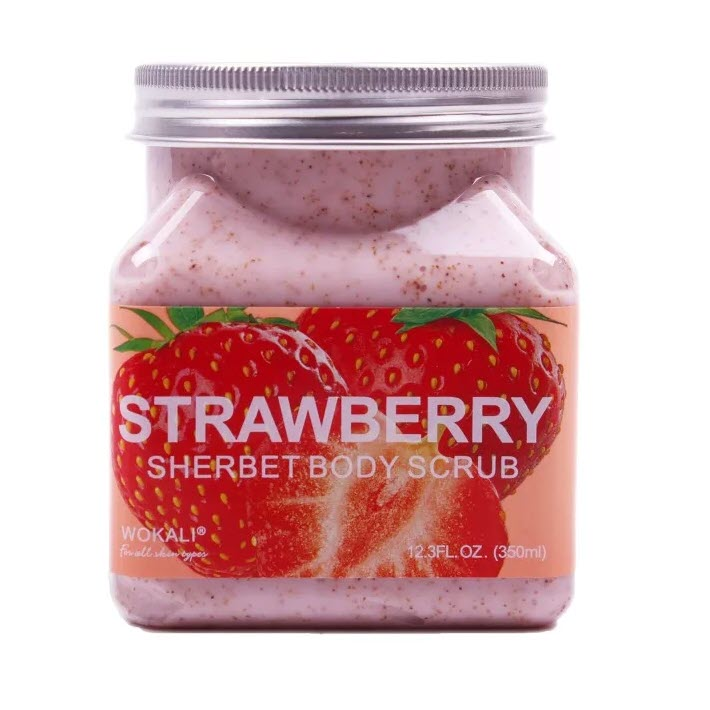 Скраб для Тела Wokali Strawberry Sherbet Body Scrub 350 г Оптом